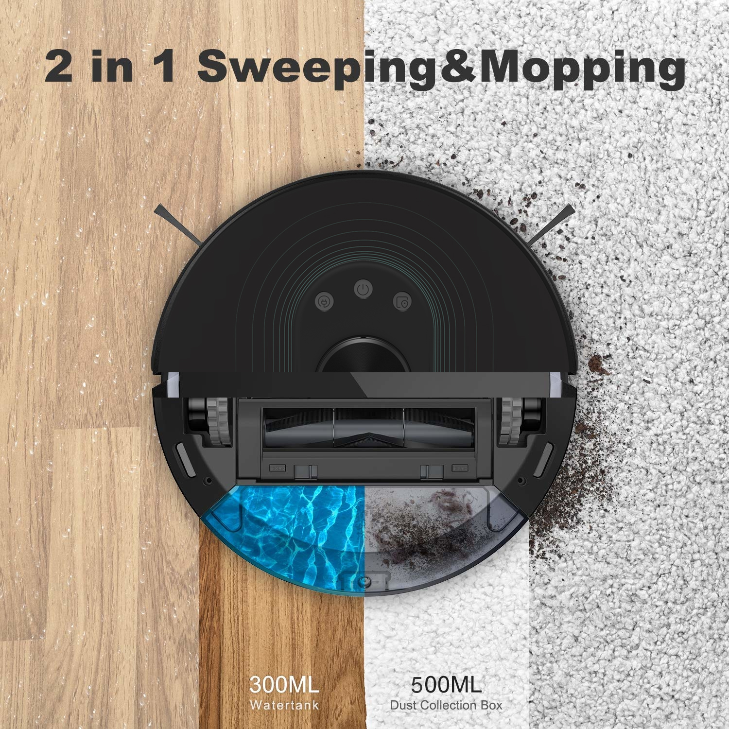 2 in 1 Sweeping and Mopping